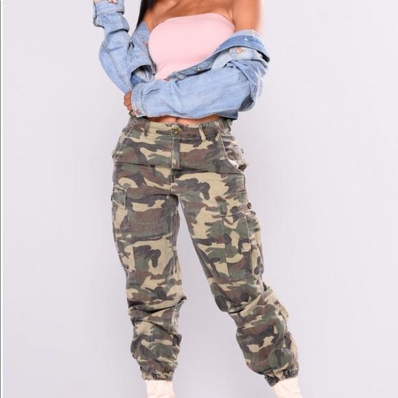 fea107fdc3207 Fashion Nova Pants | Cadet Kim Oversized Camo | Poshmark